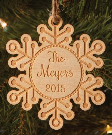Snowflake Personalized Ornament #zulily #zulilyfinds