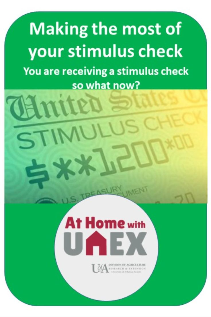 Making the most of your stimulus check Life skills, How