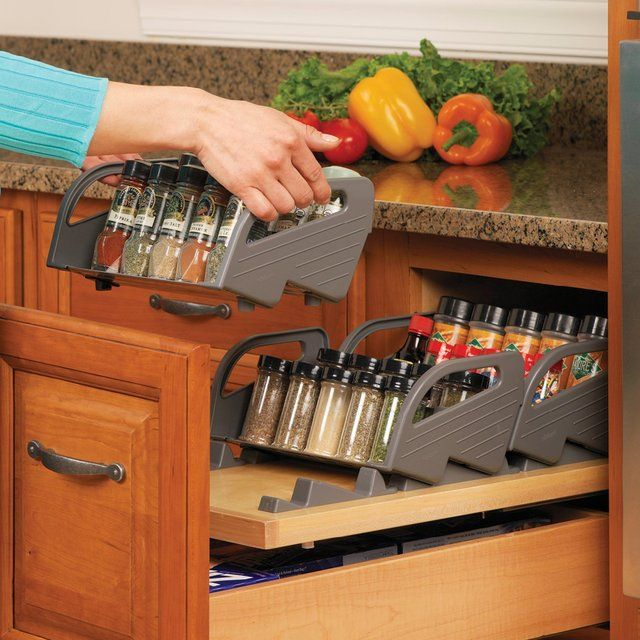 Blum Orga-Line Spice Tray Set. The Blum Orga-Line Spice Tray Set organizes your spices so your drawer remains neat, and your spices are easy to locate. When it's time to cook, the entire tray can easily be removed from the drawer to sit on the countertop, keeping spices where you need them most.