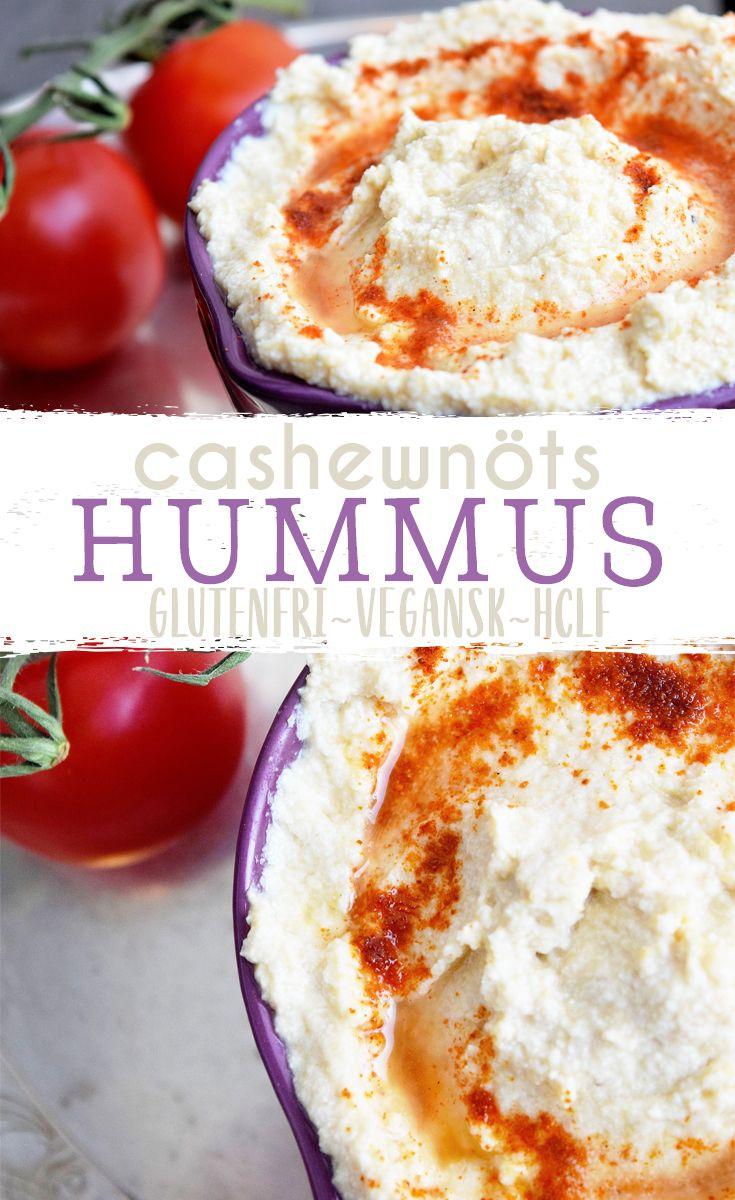 Hummus gjord på blötlagda cashewnötter istället för olja och tahini. För dom som är känsliga mot sesamfrön.