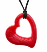 Gumigem Miller Heart Pendant. Made from the same material as most teething toys, these pendants are designed to be worn by adults and chewed on by babies. The pendants are just the right size for little hands to grab on to. Different styles & colours available from www.hushlittlebubba.com