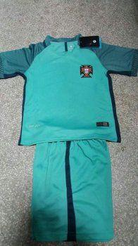 Kids Portugal National Team 2016-17 Away Kit(Jersey+Shorts) [E142]