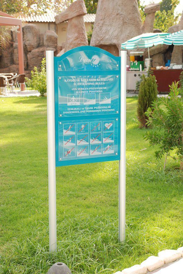 Havuz Kaydırak Kuralları - Otel Kuralları 3