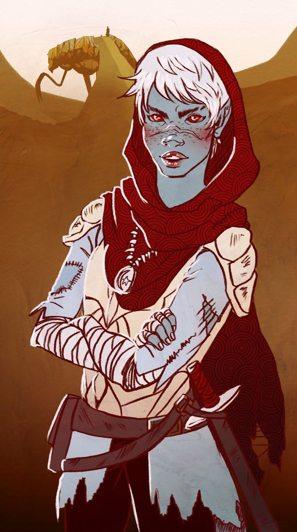"everywherebedragons: ""I just started playing Morrowind, so here's my sassy Nerevarine, Nenyah."""