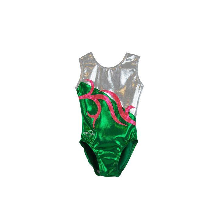 Girls 2-10 Obersee Gymnastics Leotard, Girl's, Size: Xx Small, Green