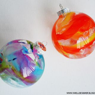 Crayon Melt Glass Ornaments. we should make some when you get home for Christmas