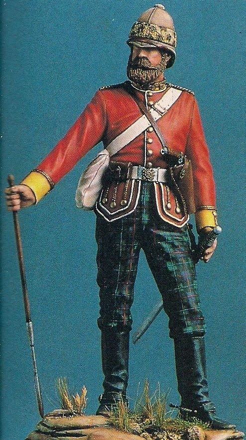 91st Highlanders Infantrymen Zulu War 1879