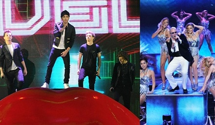 Pitbull, One Direction live@ finala X Factor  http://www.emonden.co/pitbull-one-direction-live-finala-x-factor