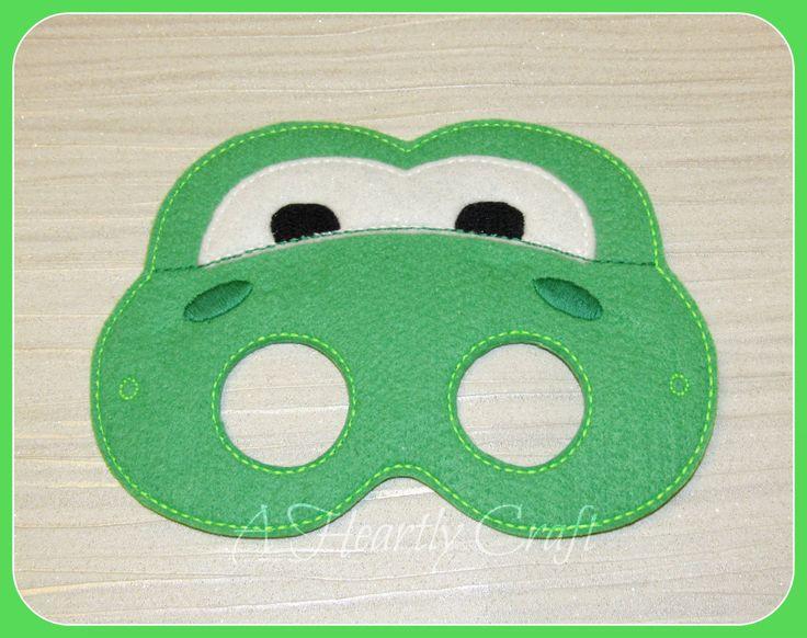 Green Felt Yoshi Super Mario Green Lizard Helper Birthday Mario Party Costume Dress Up Mask by AHeartlyCraft on Etsy