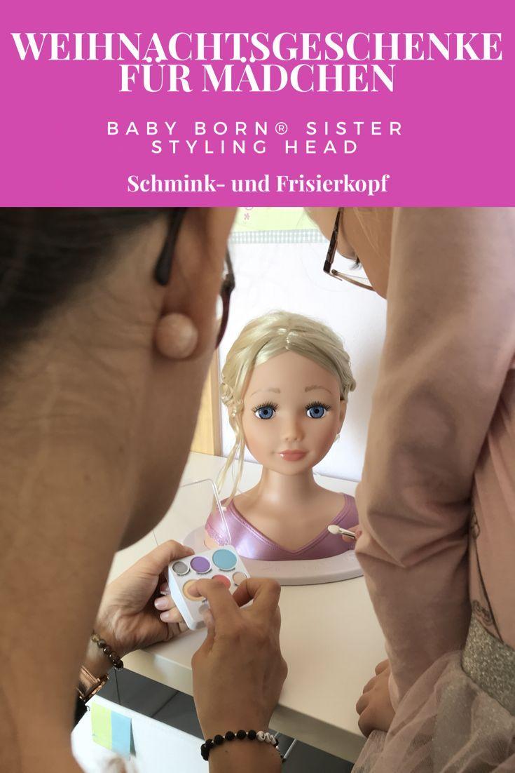 Weihnachtsgeschenk Ideen für Mädchen. Der BABY born®️ Sister Styling Head ist ein Schmink- und Frisierkopf für Mädchen ab 5 Jahren! Aber auch Papas können damit tolle neue Flechtfrisuren erlernen!   #xmas #gift #babyborn