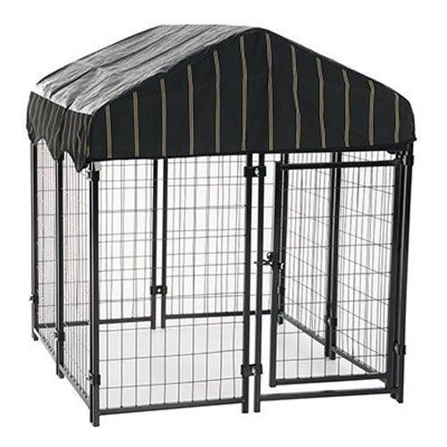 Heavy Duty Dog Cage Lucky Dog Outdoor Pet Playpen This Pet Cage is Perfect For Containing Small Dogs and Animals. Included is a Roof and Water-Resistant Cover(4W x 4L x 4.3H)