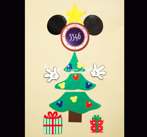 Christmas Tree With Mickey Christmas Bulbs Magnet For