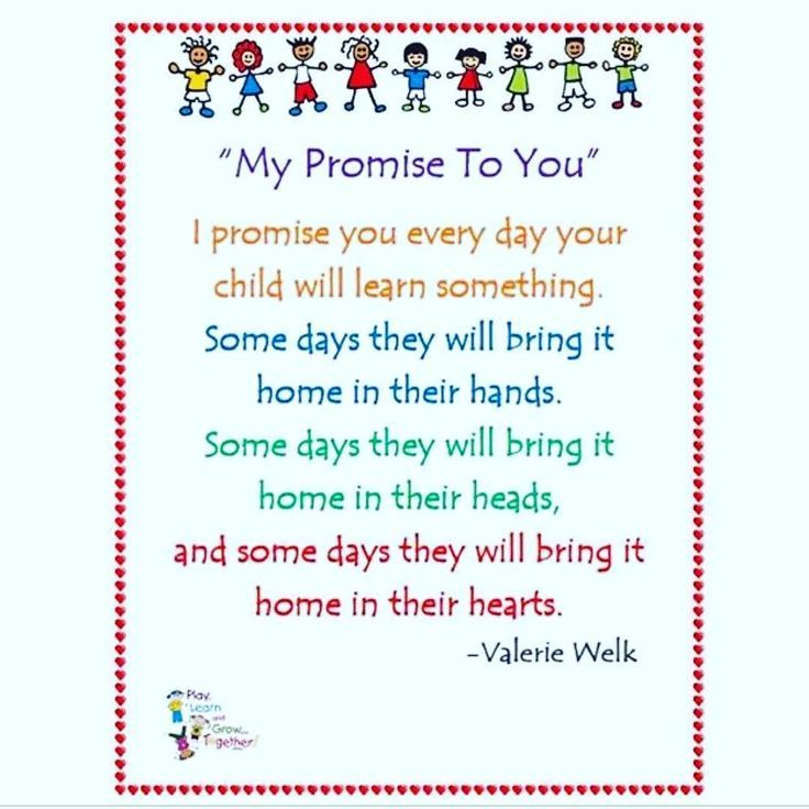 """Teacher Pledge to Parents: """"My Promise to You"""" by Valerie Welk (via Miss  Nancy's 3's on Instagram: https://www.instagra… 