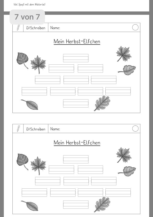Herbst Elfchen Daz In Der Grundschule Deutsch School Und Education