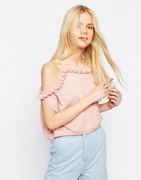 Monki | Monki Ruffle Off The Shoulder Top at ASOS