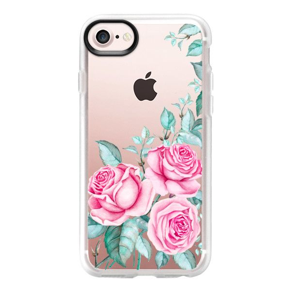 PINK FLORAL WATERCOLOR - iPhone 7 Case And Cover ($40) ❤ liked on Polyvore featuring accessories, tech accessories, iphone, phone cases, iphone case, iphone cases, floral iphone case, pink iphone case, clear iphone case and iphone cover case