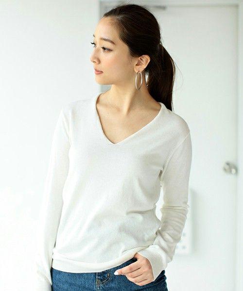 エアリーコットンベーシックV/NニットPO(ニット/セーター)|AZUL by moussy(アズールバイマウジー)のファッション通販 - ZOZOTOWN