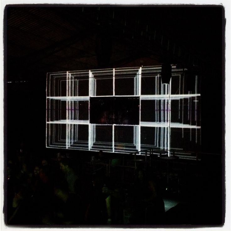 Video mapping fiesta Pilsen night. Medellín