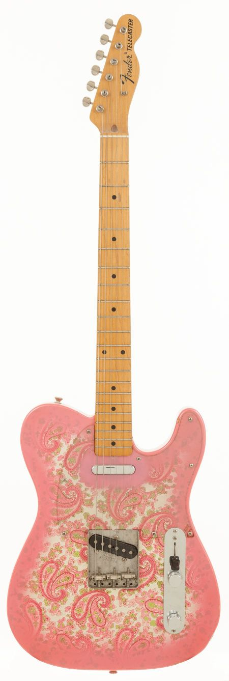 Fender Telecaster Pink Paisley 1986 - I, personally, have never liked the paisley finish, but is an iconic look for some telecasters...