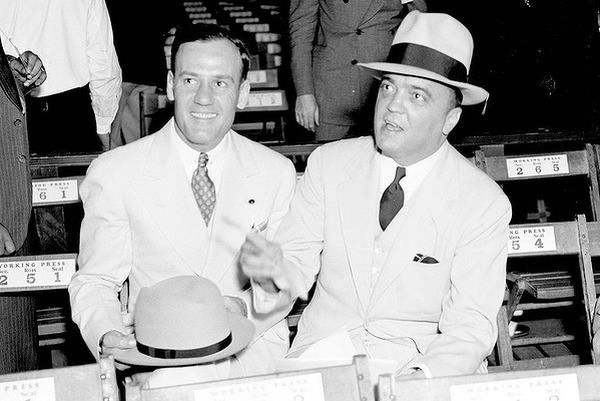 J.Edgar Hoover (right) and gay lover Clyde Tolson in real life.