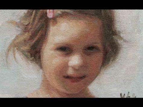 油絵で肖像画の描き方がわかるYuehua Heさんのペインティングの一部始終【動画】 | makings.jp