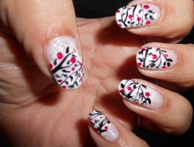 Black And White Nail Tip Designs Picture Wallpaper