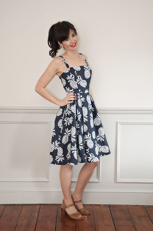 Woohoo! Today we're absolutely over the moon to finally be able to bring you our brand new Rosie Dress sewing pattern!  The Rosie Dress is the ultimate summer dress. Fun, flirty and girly, she's 1950s