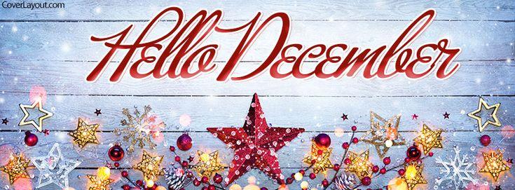 Hello December Facebook Cover coverlayout.com