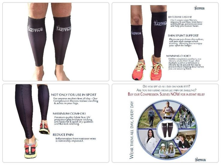 NEW Calf Compression Sleeves For Men Women FREE Ebook FREE SHIPPING ORIGINAL  #EssentialActive