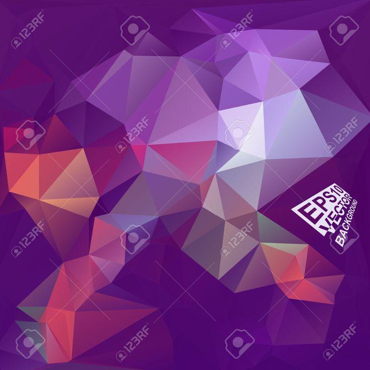 Multicolor (púrpura, Violeta, Rojo, Azul) Plantillas De Diseño. Fondo Geométrico Triangular Abstracta Moderna Del Vector. Ilustraciones Vectoriales, Clip Art Vectorizado Libre De Derechos. Pic 33568307.