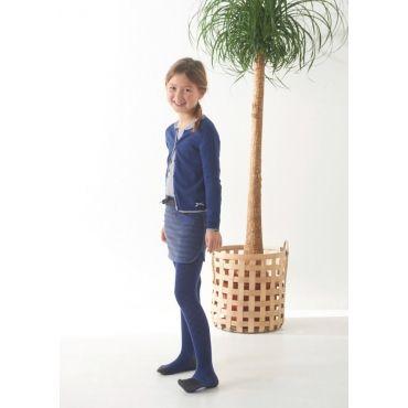 Blauw/ecru t-shirt met ruitjespatroon - Mister Monkey and Misses Butterfly - Little Label - AW16 - Girls - t-shirt - Pattern