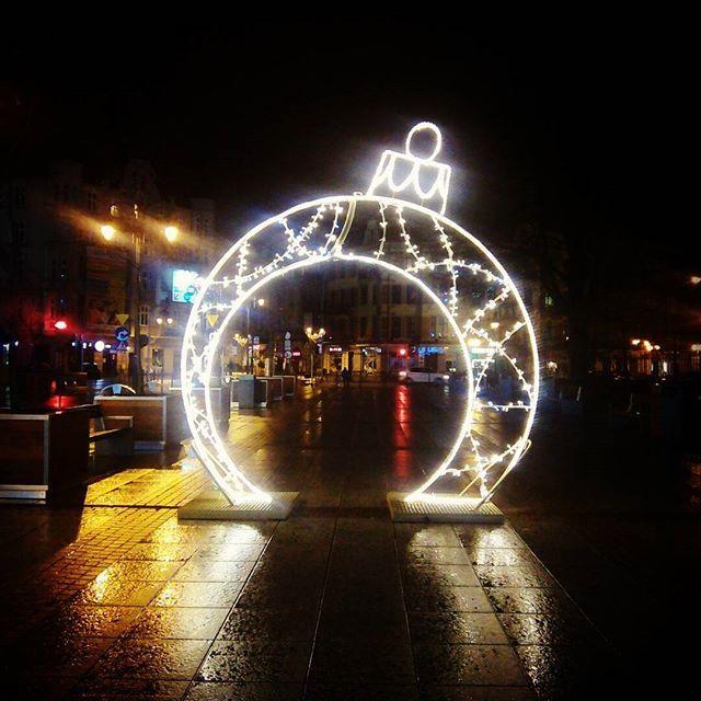 #katowice #city #big #bombka #slask #silesia #night #xmas #citybynight