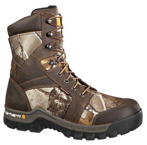 Carhartt Men's CMF8379 8 Inch Composite Toe Boot,Brown Oil Tanned Leather/Realtree Extra Camo Nylon,11 W US - http://authenticboots.com/carhartt-mens-cmf8379-8-inch-composite-toe-bootbrown-oil-tanned-leatherrealtree-extra-camo-nylon11-w-us/