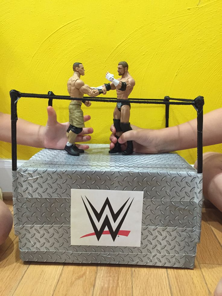 diy WWE fighting ring for action figures. the kids love it! by @gtl230 on pinterest