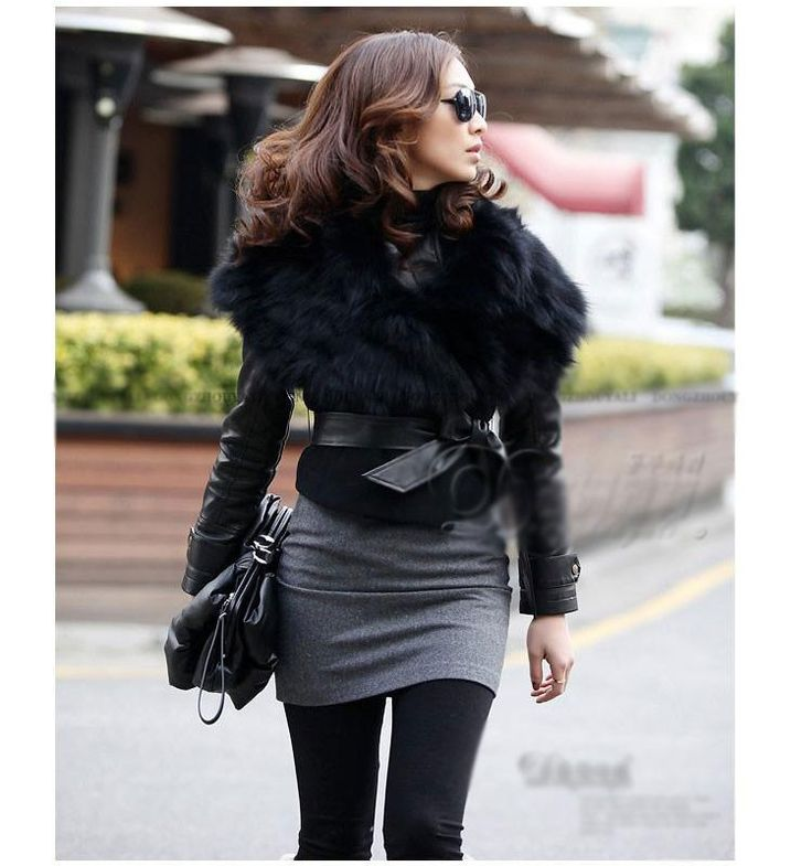 Faket Women Fancy Winter Vintage Jacket Sleeveless Faux Fur