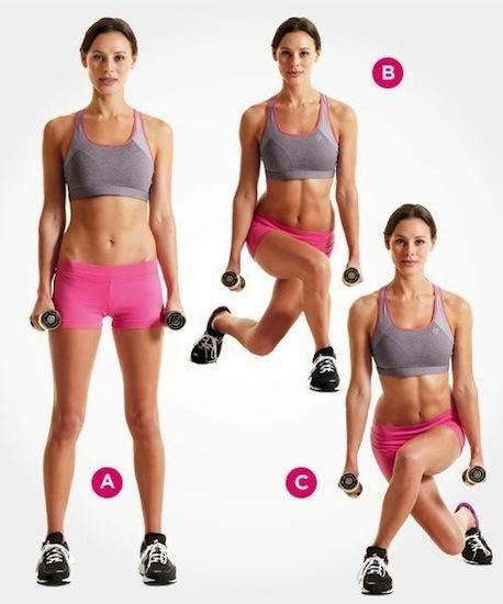 Pivoting Curtsy Lunge You will then lean your torso forward about 30 degrees. Pulse up and down for about 10 times. Straighten up and reverse by pivoting 180 degrees. The other foot should be in front now. Now repeat the steps. Do this 10 steps per set; 3 sets per side.