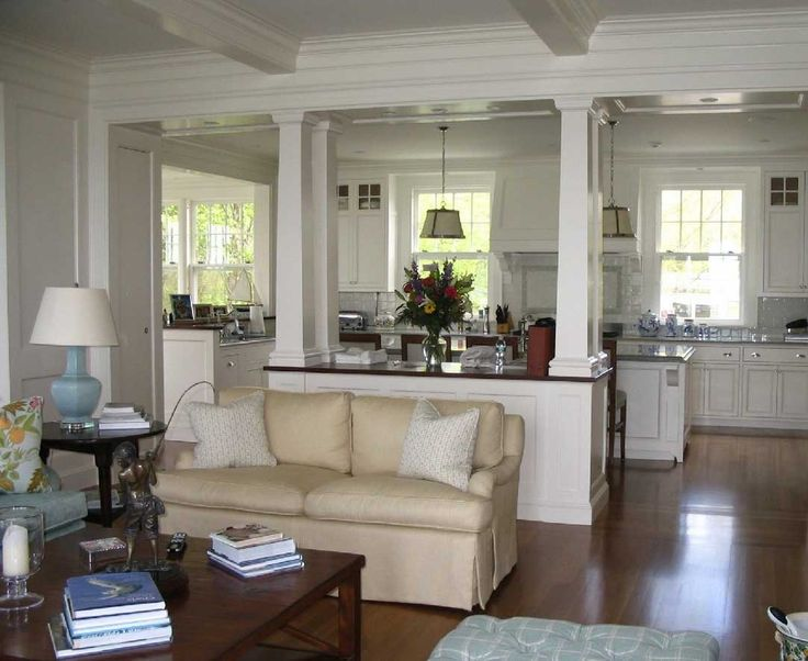Awesome cape cod style interior design with white wall ...