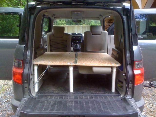 sleeping platform honda element. Black Bedroom Furniture Sets. Home Design Ideas