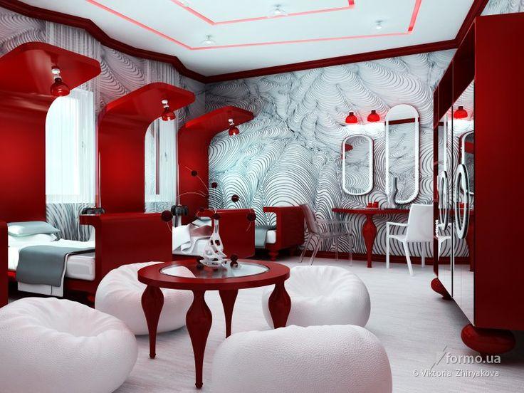 Темно-красная комната
