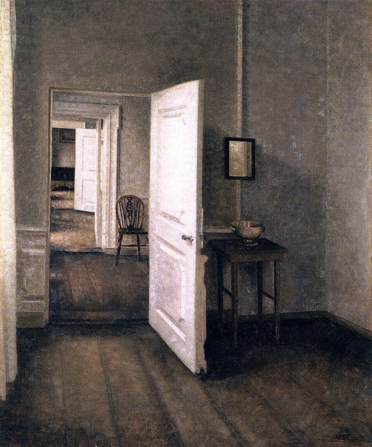 Quatro Quartos, Interior da Casa do Artista, Strandgade 25 - Vilhelm Hammershøi, 1914