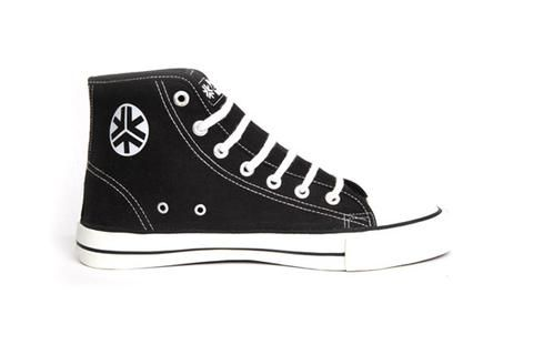 Etiko Black & White High Top Sneakers