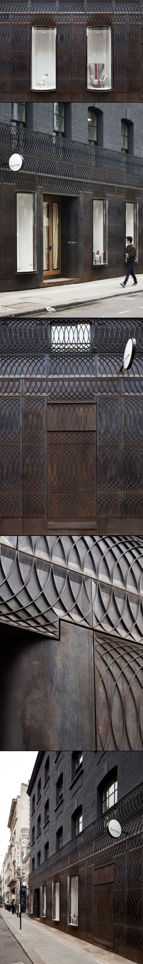 absolutely stunning -Paul Smith Albemarle Street store facade by 6a Architects