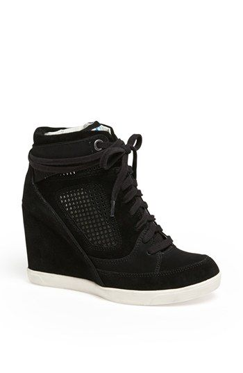 French Connection 'Marla' High Top Wedge Sneaker available at #Nordstrom
