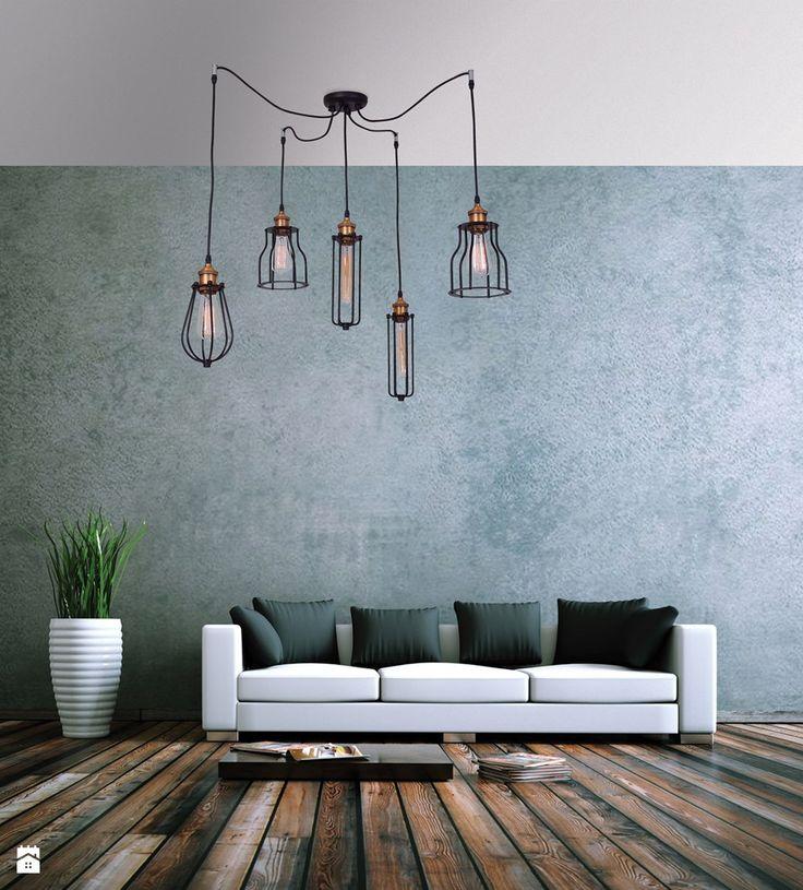 Pięciopunktowa lampa wisząca Ustika - zdjęcie od lampy.pl - Salon - Styl Rustykalny - lampy.pl