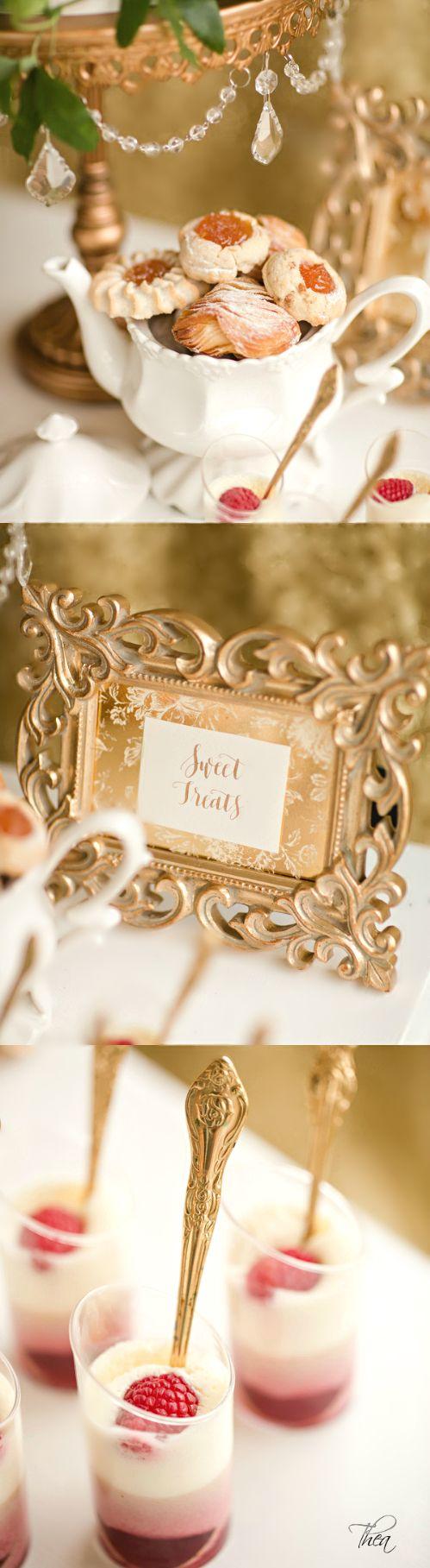 dessert de réception de mariage  peinture