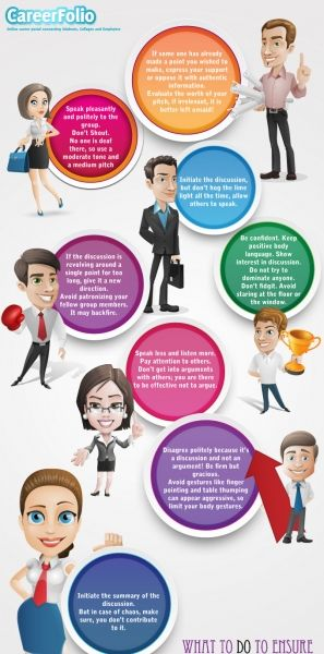 The Group Discussion Success Infographic