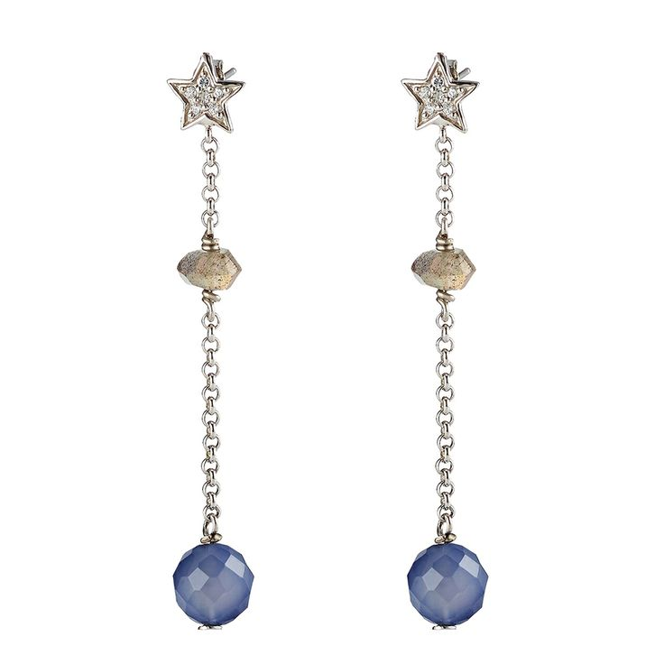 Oxette Blue Earrings - Available here    http://www.oxette.gr/kosmimata/skoularikia/st.silver-earrings-oxette-545l-1/     #oxette #OXETTEearrings #jewellery