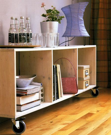 Making your own DIY storage unit is a quick and easy project that will only cost around R500 for materials and accessories. You can buy laminated pine board at your local Builders Warehouse and have this cut to size, and they also stock a range of castor wheels. http://www.home-dzine.co.za/diy/diy-wheelie.htm#