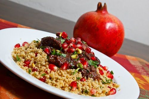 Pomegranate Lamb Tagine With Preserved Meyer Lemons Recipes ...