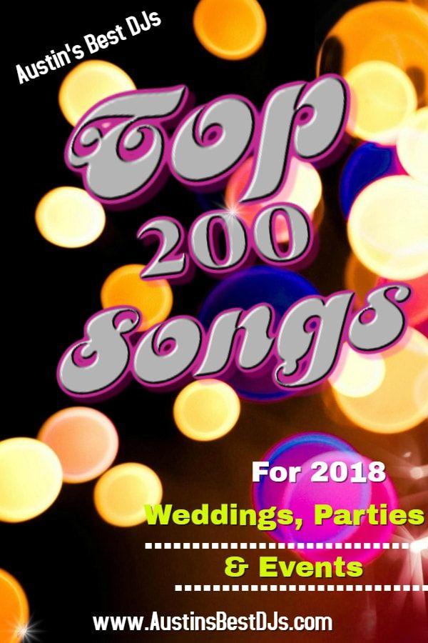 2018 wedding playlist
